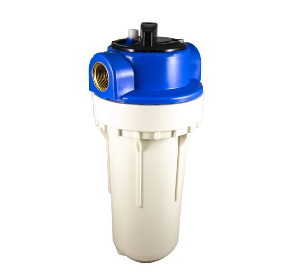 Filtre à eau bypass 2 pieces 7 pouces avec insert laiton - filetage 3/4 pouce - 20x27